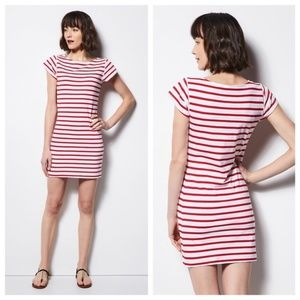 Milly Striped Short Sleeve T-Shirt Dress